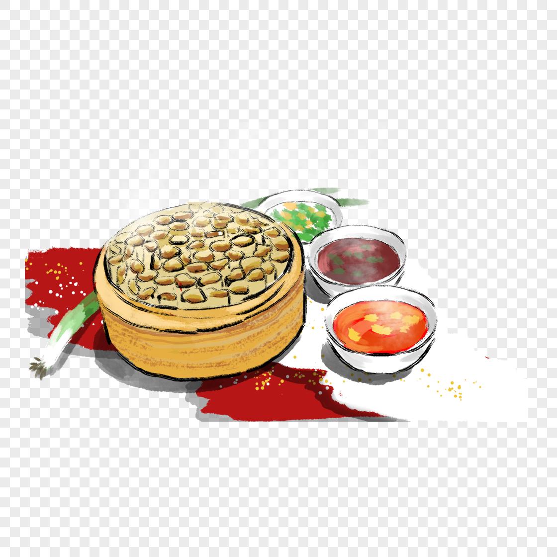 图片 素材 手绘/卡通元素 丰盛饭菜.