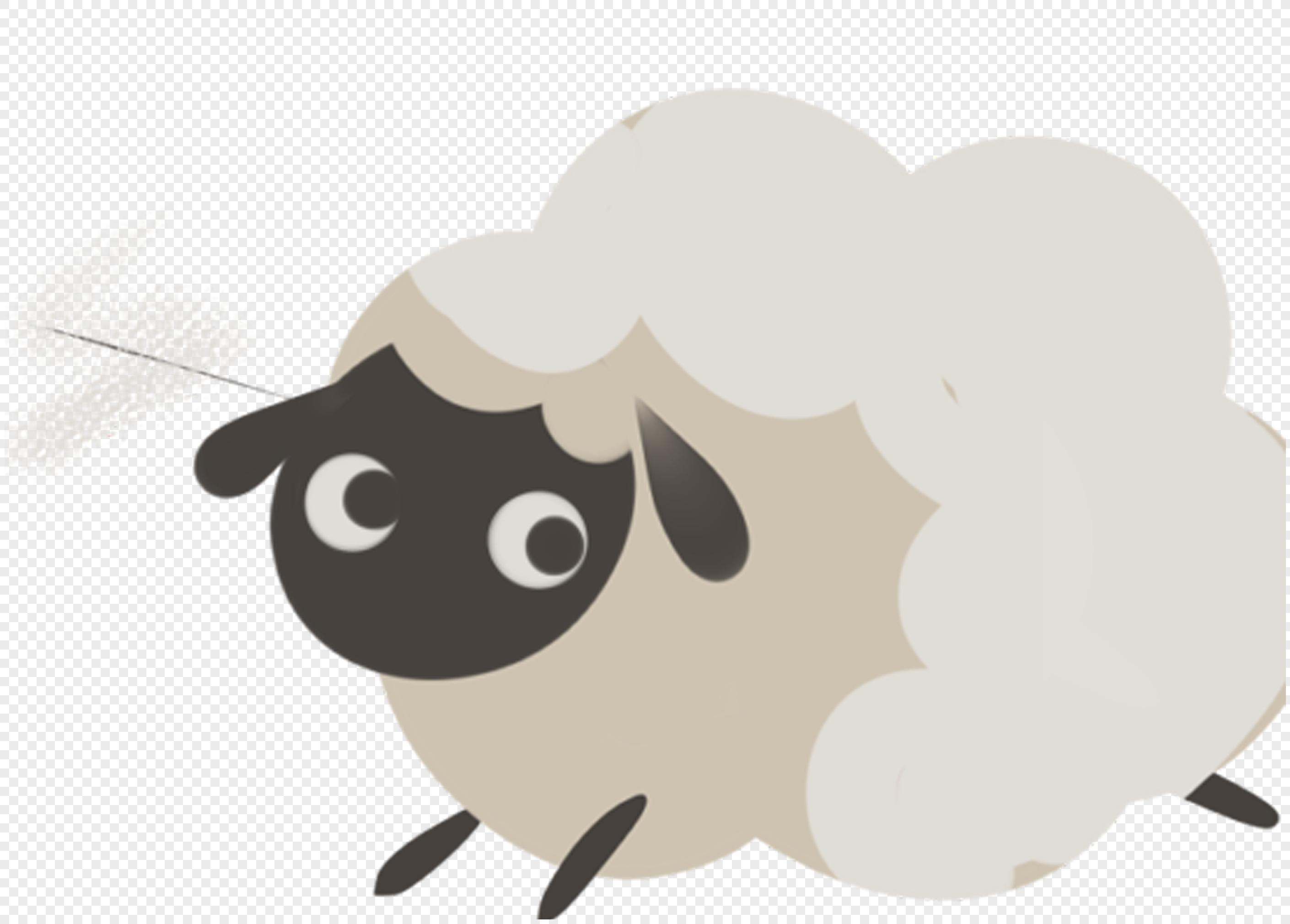 手绘可爱羊