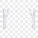 白色窗帘图片