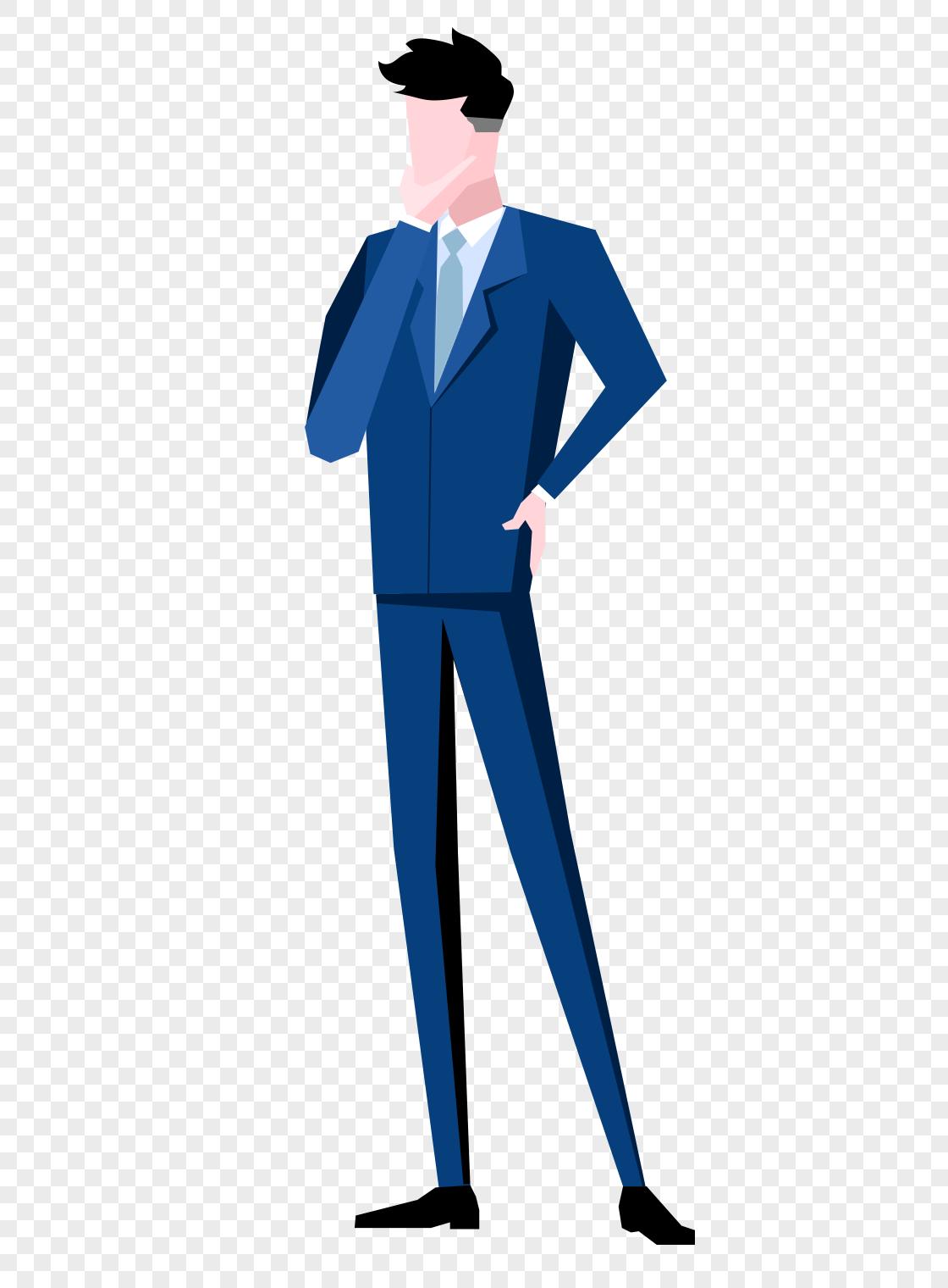 图片 素材 手绘/卡通元素 商务男人.