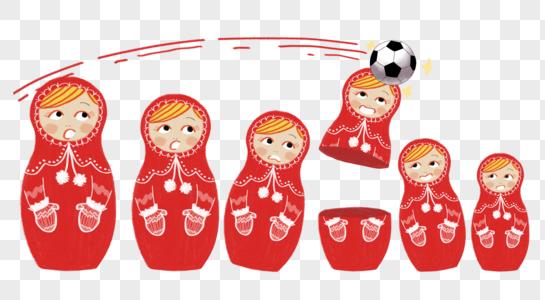 俄罗斯套娃顶球图片