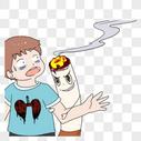 吸烟的人图片