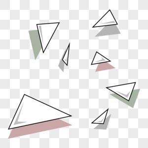 三角漂浮几何图片
