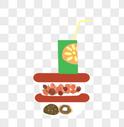 卡通食物餐具图片