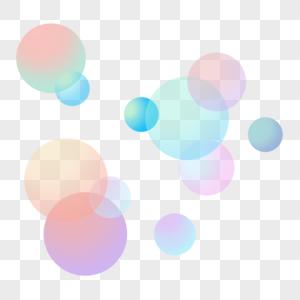 蓝色圆点漂浮图片