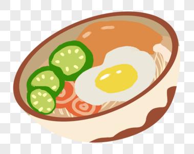 鸡蛋面图片