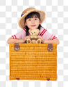 旅行中的小女孩图片