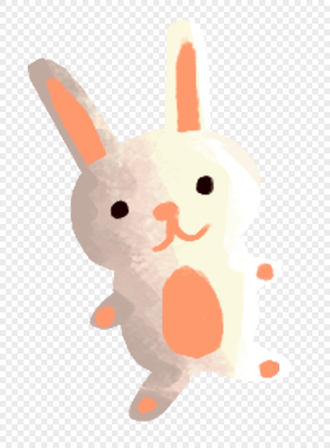 图片 素材 手绘/卡通元素 兔子玩偶.