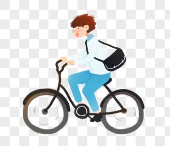骑自行车的男孩图片