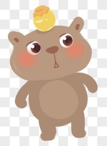 头顶蜜罐的玩具小熊图片