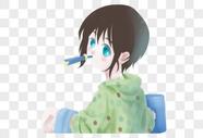 刷牙的小男孩图片
