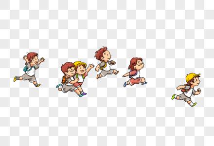 奔跑的小学生图片