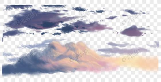 傍晚的云图片