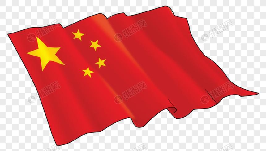 手绘中国国旗