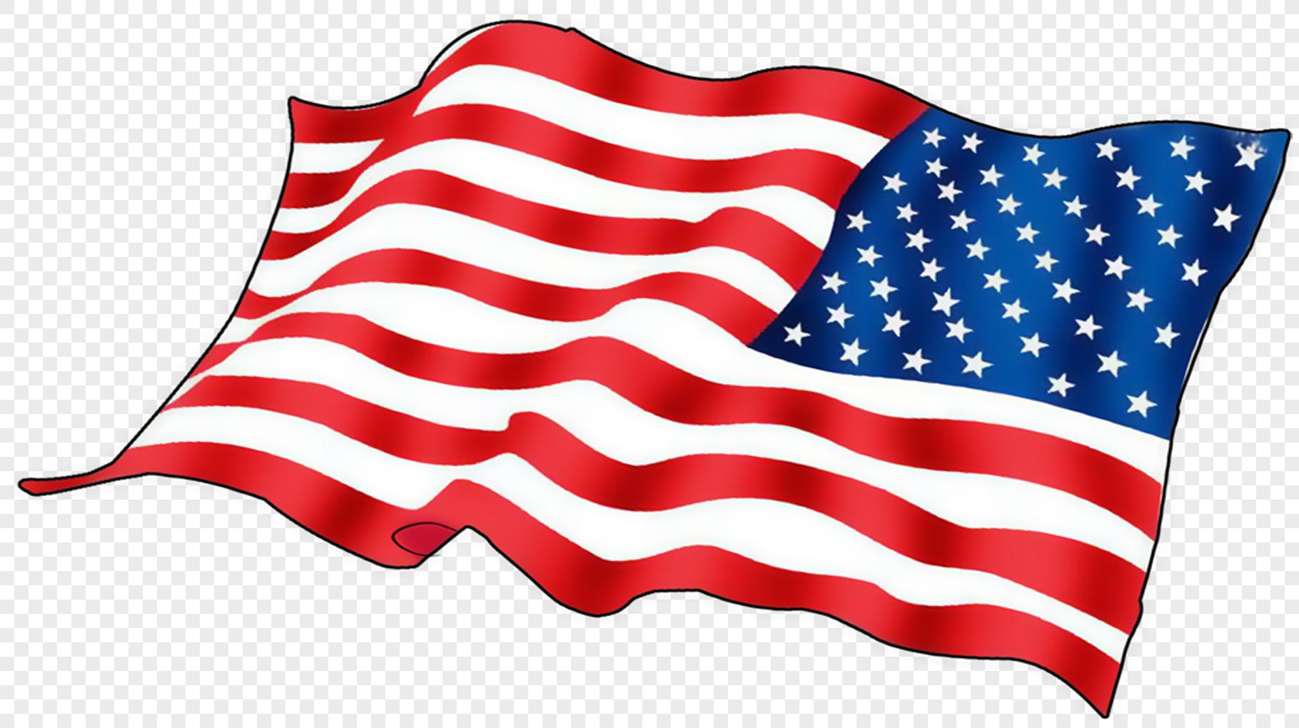 手绘美国国旗