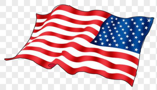 手绘美国国旗图片