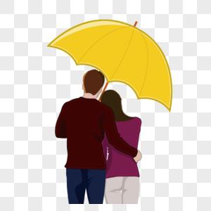 夫妻打伞图片
