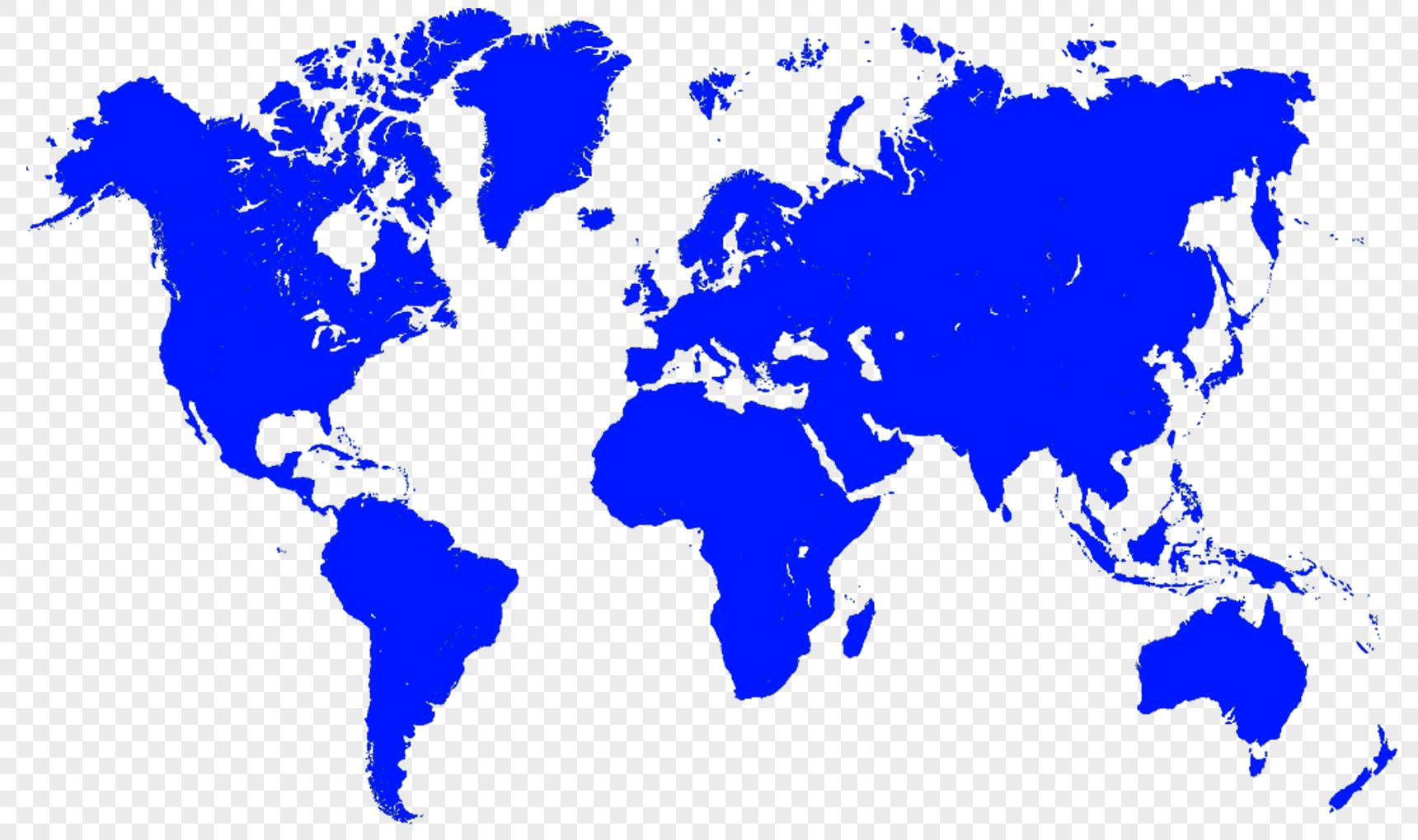 图片 素材 手绘/卡通元素 世界地形图.