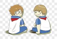 两个小学生图片