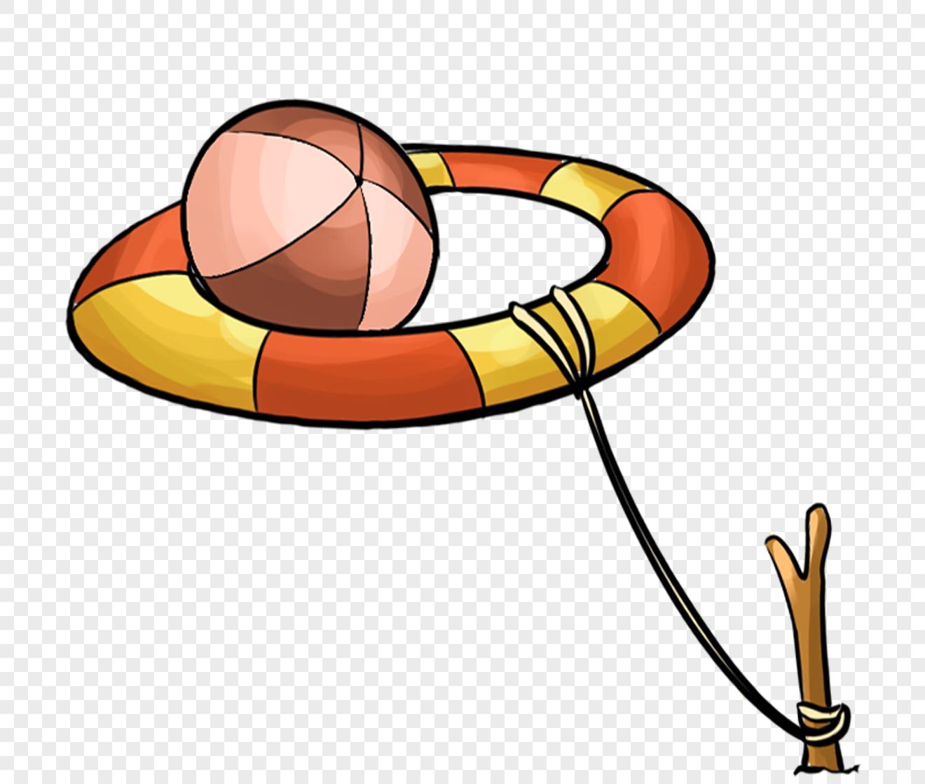 图片 素材 手绘/卡通元素 游泳圈.