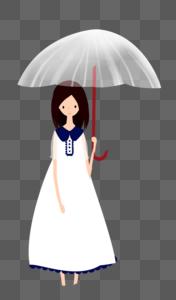 撑伞的女孩图片
