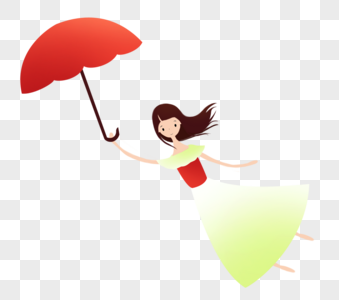 拿雨伞的女孩图片