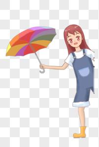 撑伞的人图片