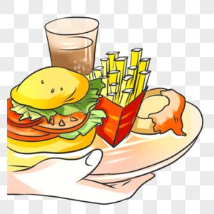 美食  汉堡薯条图片