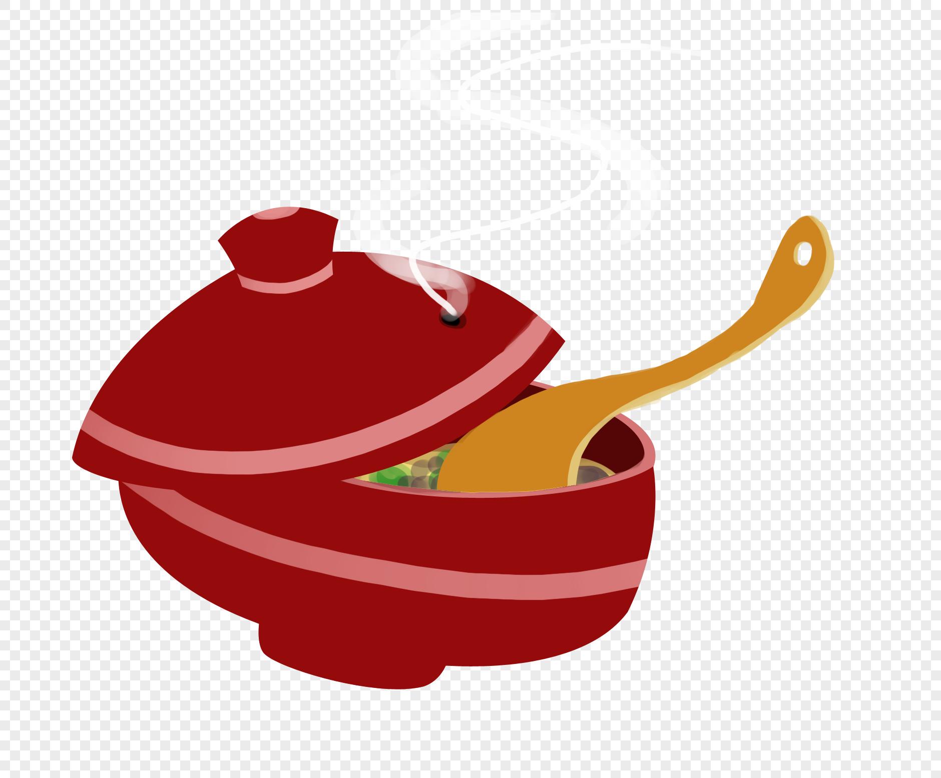 单个素描砂锅结构图