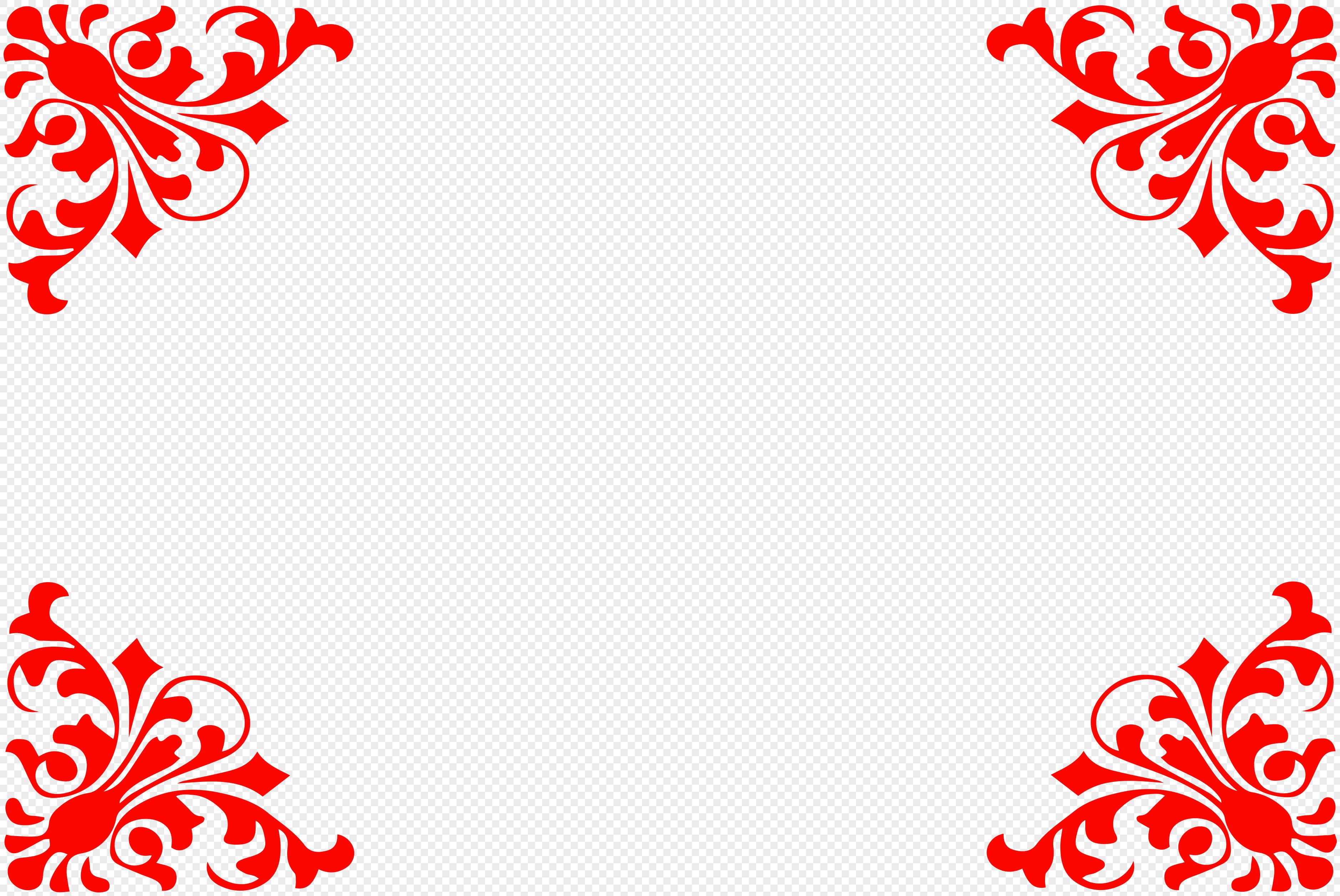 图片 素材 边框底纹 复古花纹边框.