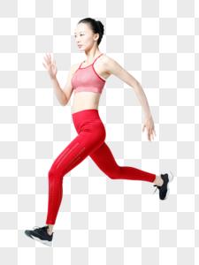 健身青春健身女性跑步冲刺背影图片图片