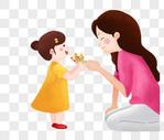 给母亲送花的女儿图片