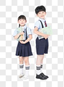 拿着书准备上学的儿童图片图片