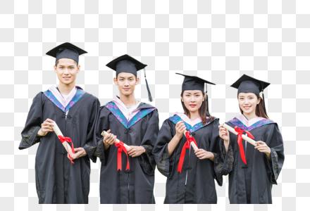毕业季毕业生穿学士服手拿感谢信毕业证图片图片