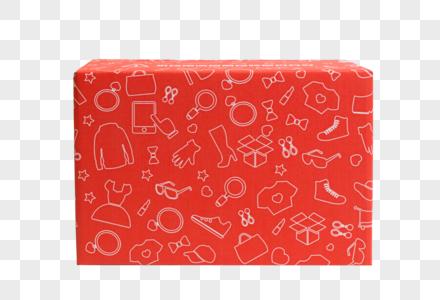 红色物品包装盒元素图片