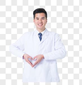医生手势摆爱心动作图片图片