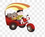 骑车的小男孩图片