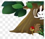 树洞里的小白兔图片