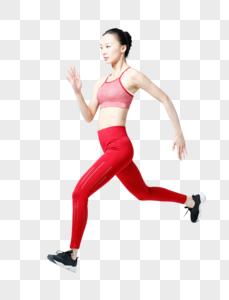 大步跑步冲刺的健身女性图片图片