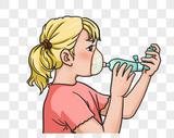 侧肺活量的女孩图片