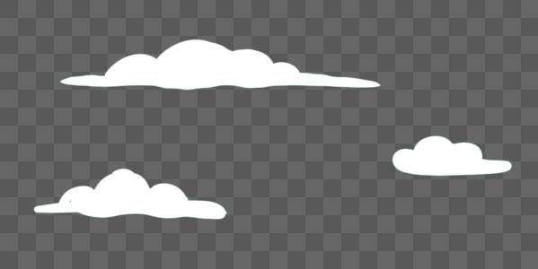 卡通白云素材图片