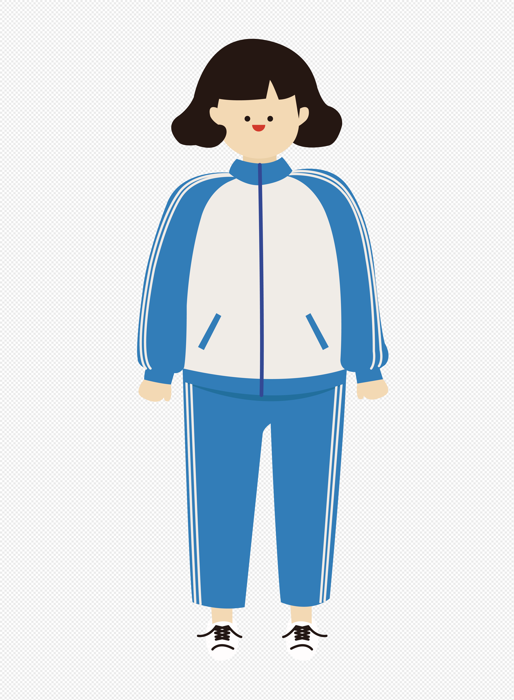 手绘/卡通元素 穿校服的女孩.png