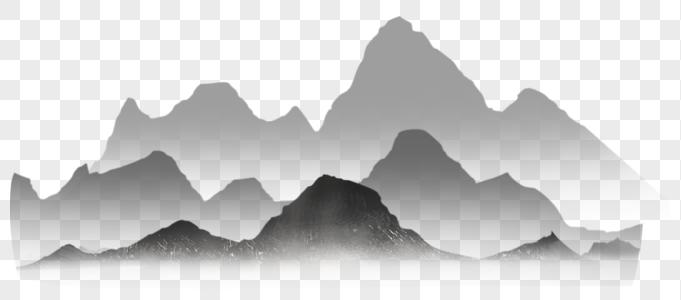 水墨画山图片