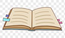 手绘书本图片