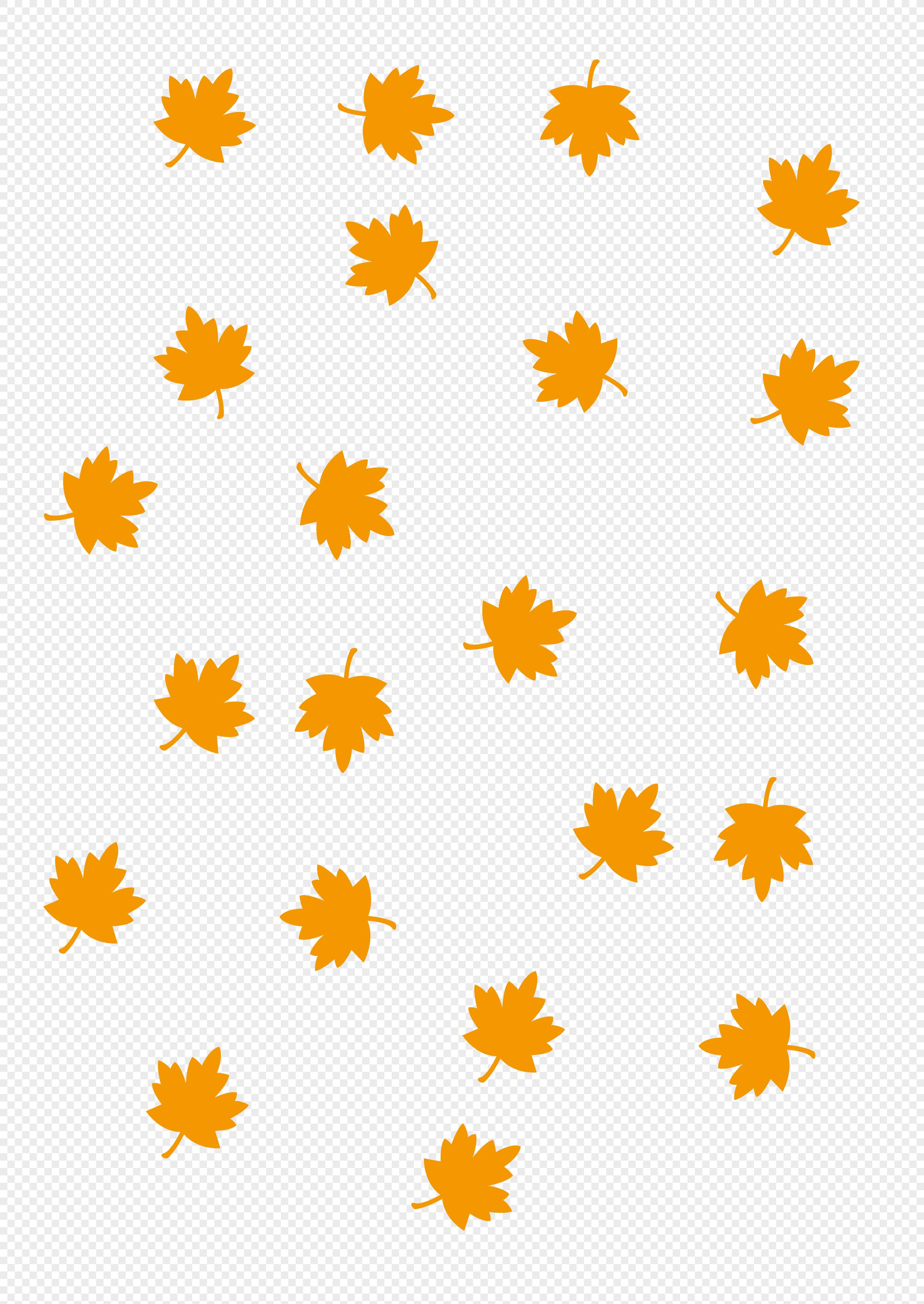 手绘背景可爱落叶元素素材png格式_设计素材免费下载