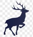 驯鹿剪影图片