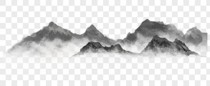 水墨山川图片