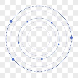 蓝紫色渐变发光现代几何圆形科技边框图片
