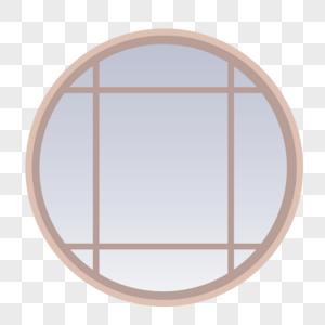 古风圆形窗图片