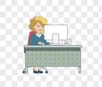工作的女人图片